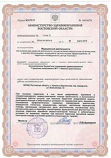 Приложение №1 к лицензии (с. 2)