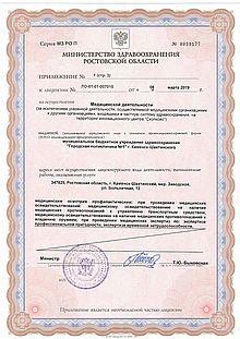 Приложение №1 к лицензии (с. 4)